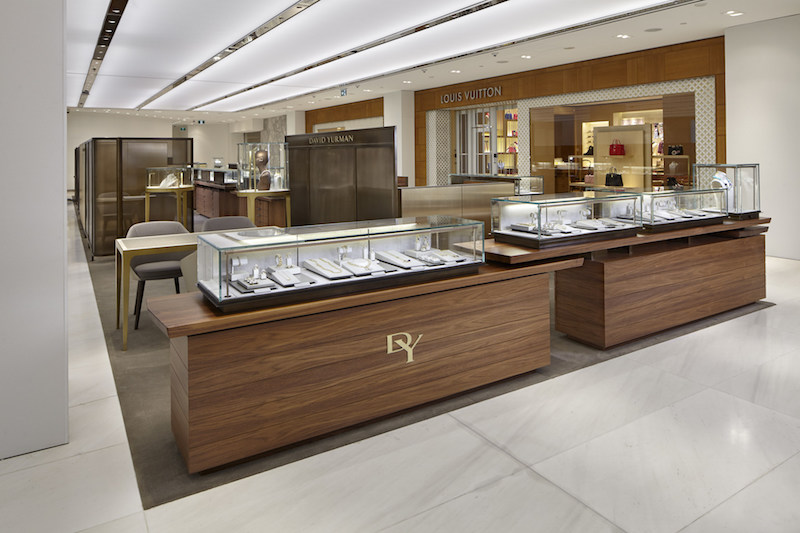 (Yurman's Vancouver Holt Renfrew concession, which relocated in September, is the brand's largest concession globally as well as one of only five boutiques featuring the pricey 'High Jewellery' line. Photo: David Yurman)