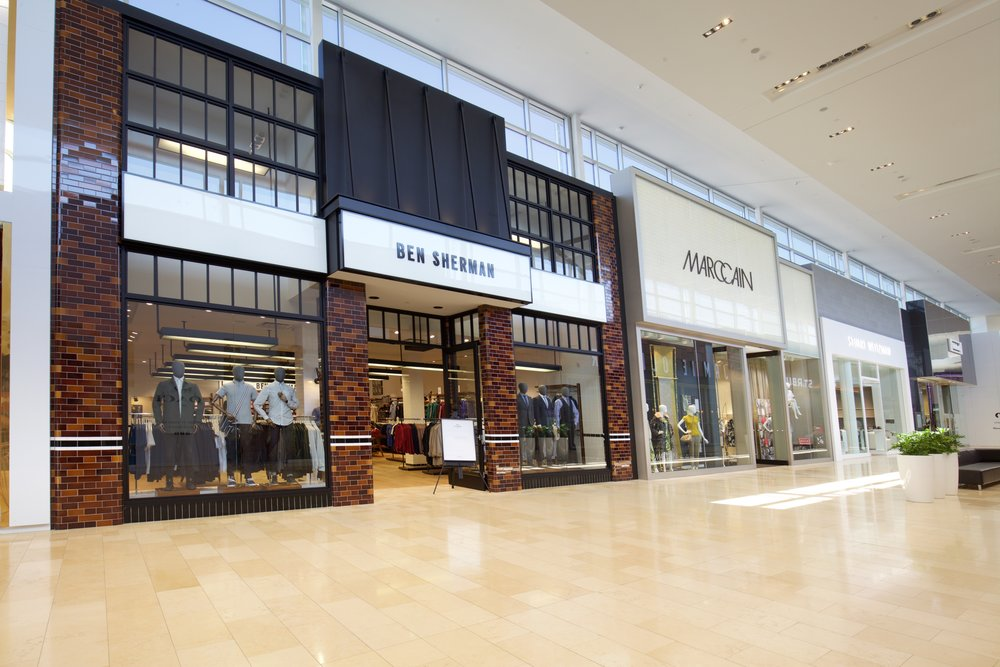 (Canada's 2nd Ben Sherman opened in the summer next to German retailer Marc Cain)