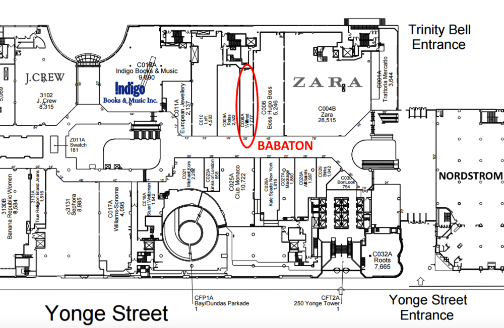 (Click image for full PDF CF Toronto Eaton Centre lease plan, via Cadillac Fairview)