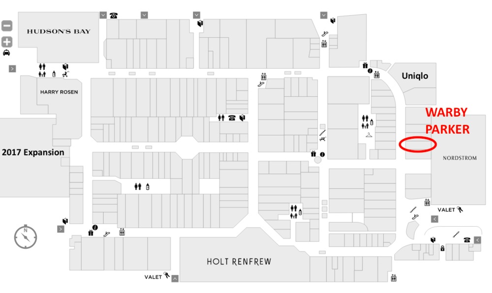 (Click above for interactive Yorkdale mall floor plan)