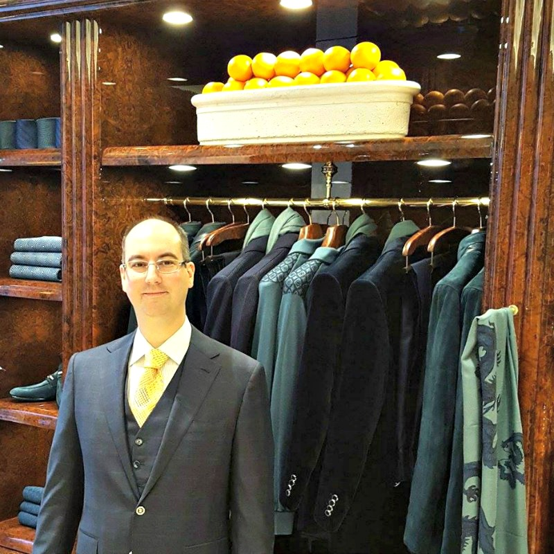 (Manuel Bernaschek, pictured in his new Stefano Ricci store)