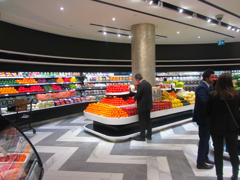 (saks cf sherway food hall, by pusateri's fine foods. photo: norman katz)