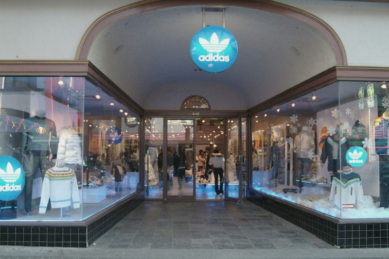(vancouver adidas originals store. photo:  Vancouver City Shopping Guide )