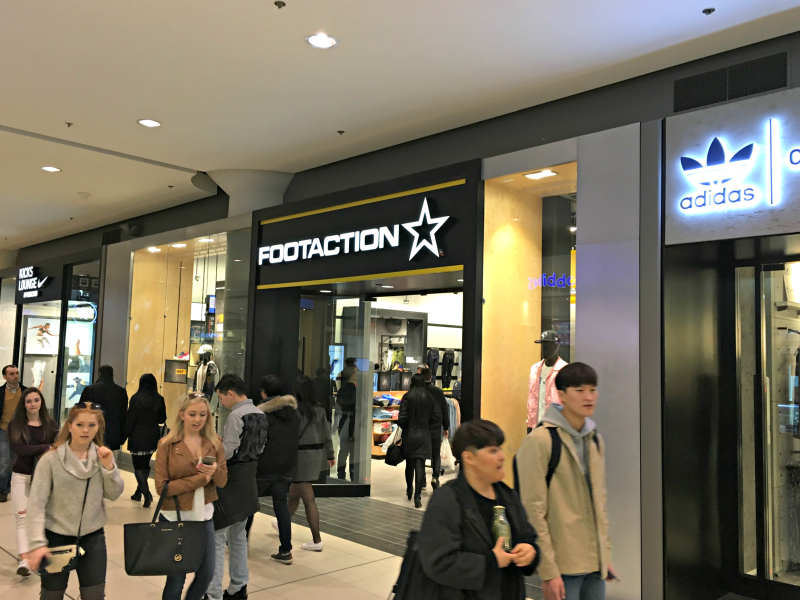 cc47ee178 New York City-based Foot Locker has launched the first International  location for its Footaction banner. Located at CF Toronto Eaton Centre in  Toronto