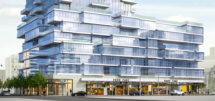(toronto: 88 queen will feature substantial retail. rendering: st. thomas developments inc.)
