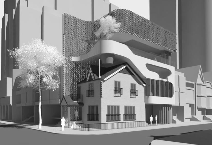 (trattoria nervosa will see a rather unique addition to its current space. rendering supplied to the city of toronto)