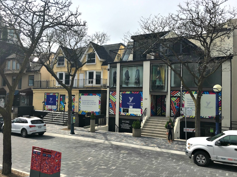 (The buildings at 102-108 Yorkville avenue will be demolished for a new multi-level retail project)