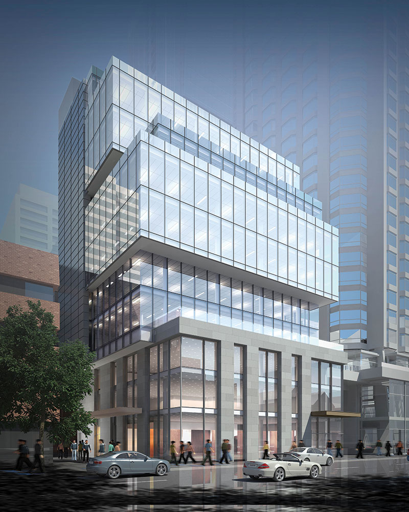 (135 Yorkville avenue. CNTRBND will relocate in one of its ground floor retail spaces. rendering: Camrost-Felcorp)