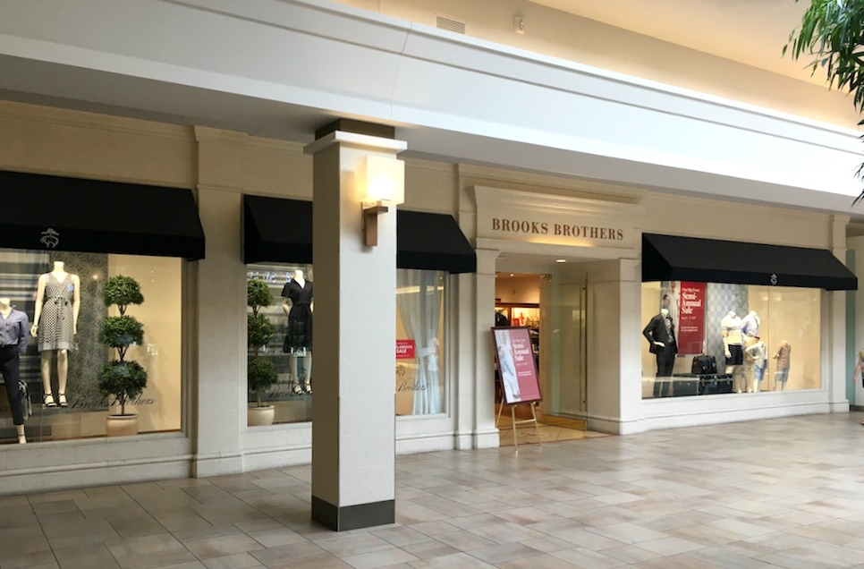 (upscale men's/women's fashion retailer Brooks brothers has a 5,500 square foot store at bayview village)