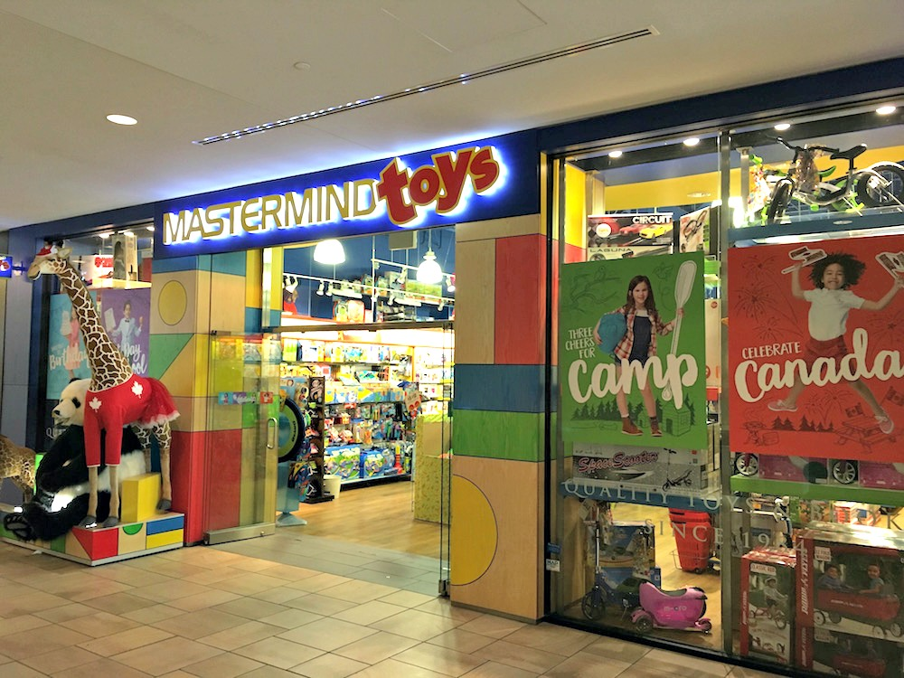 (one of only a handful of mastermind toys stores located within a shopping centre. mastermind toys seeks out retail space in areas that are affluent and feature a highly-educated population. bayview village is a nobrainer)