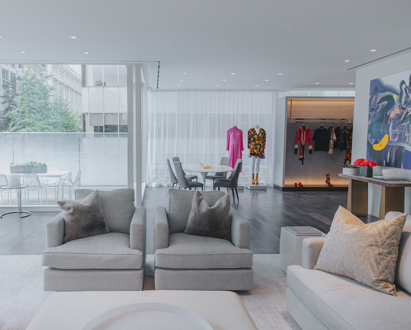 ('The apartment' features a dining area and outdoor patio. photo: holt Renfrew)