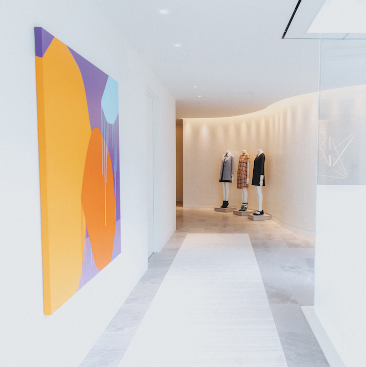 (Entrance hallway into the newly expanded personal shopping suites. photo: holt Renfrew)