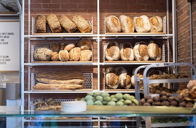 (bread display in the new bakery area. photo: Ryan Emberley)