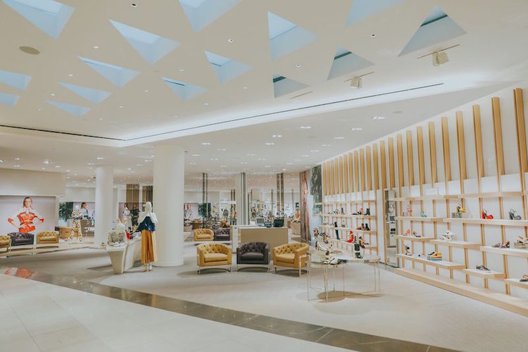 (new 8,500 square foot women's shoe hall, featuring nine designer shop-in-stores and a wide assortment of luxury brand offerings. photo: holt Renfrew)