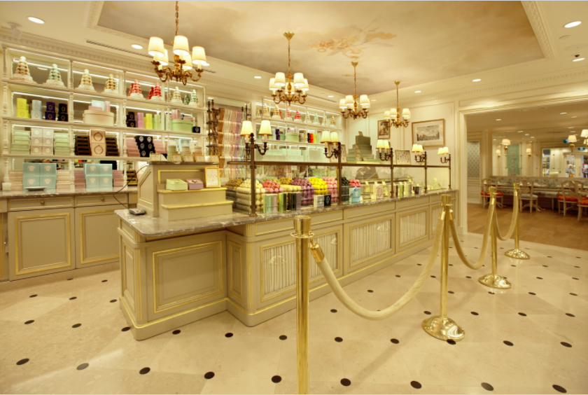 (inside the vancouver robson street ladurée retail space)
