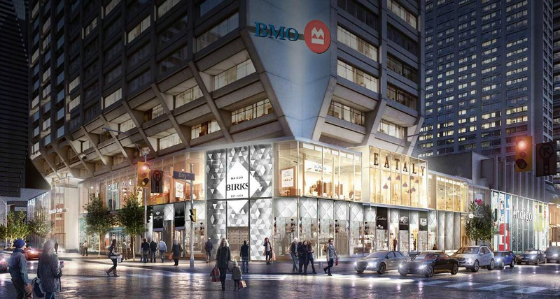 (big changes are in store for Birks at Toronto's Manulife centre. Rendering: Manulife)