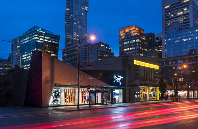 (The new   Arc'teryx on burrard street, just south of robson. Image: Arc'teryx)