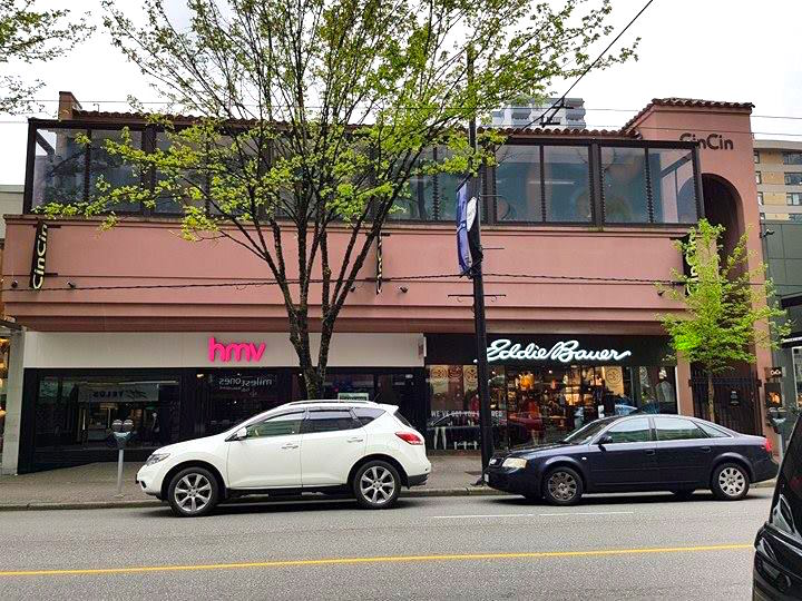 (reigning champ has leased the former HMV space on robson street. CBRE also negotiated the Eddie Bauer Deal. photo: Ritchie Po)
