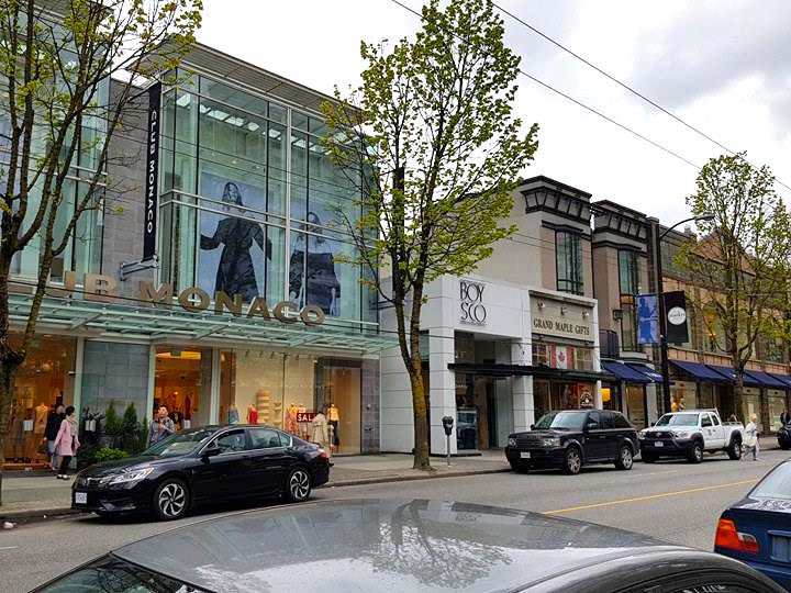 (1000 block, including homegrown menswear retailer boys'co. Photo: Ritchie Po)