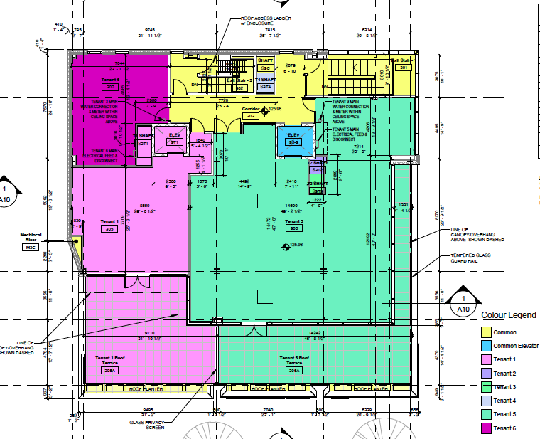 (Her majesty's pleasure is 'tenant 5' identified in green. lease plan: first capital realty)