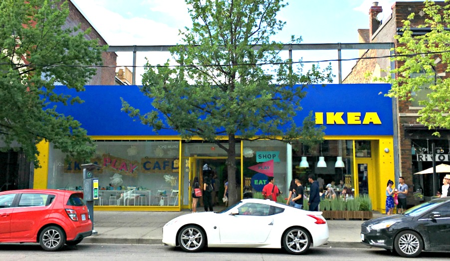 (Ikea pop-up in toronto, at 336 queen st. w.)