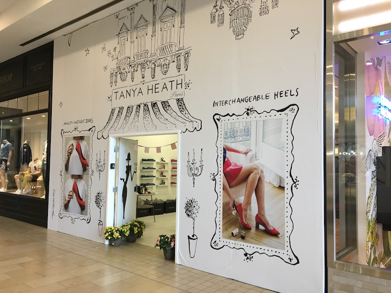 (Above and below: tanya heath paris pop-up at yorkdale in the spring of 2017. Tanya heath won an innovation competition hosted by dx3 in partnership with oxford properties and retail council of canada. photos by craig patterson)
