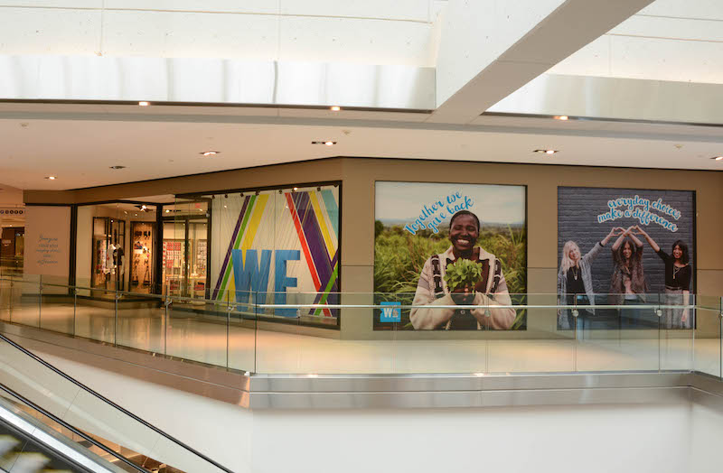 (above and below: 'we' pop-up at cf rideau centre in ottawa. the store will be open until early 2018. photos: William Mitchell)