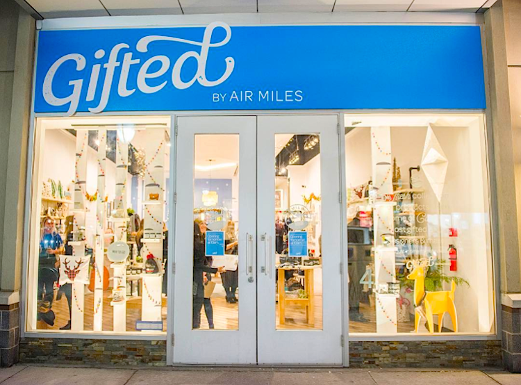 ('gifted' by air miles pop-up at cf Shops at don mills. Photo: Cadillac Fairview)