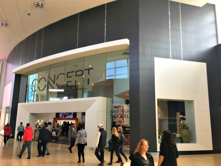 (Above and below: 'concept' at yorkdale -- the 3,600 sf space houses a rotation of pop-ups. photos: craig patterson)
