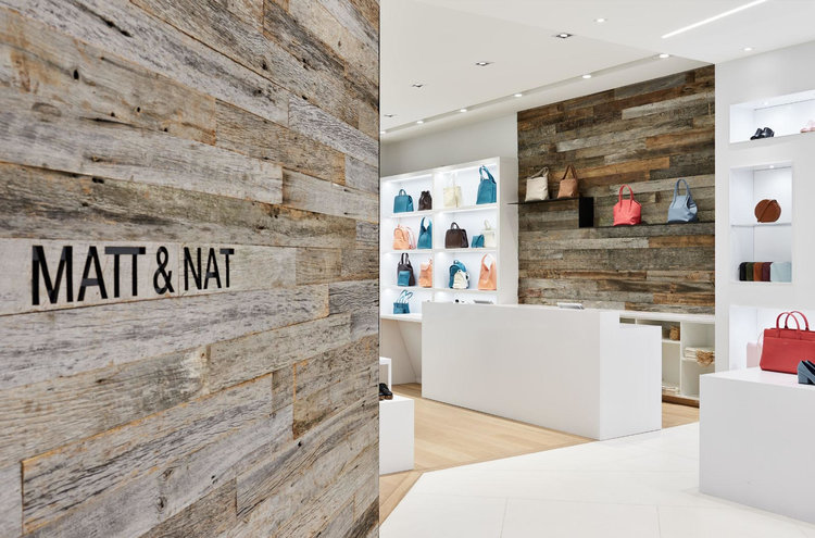 (Varied textures and colours attract potential consumers' attention: Matt & Nat RIDEAU CENTRE STORE. PHOTO: PHOTOLUX STUDIO)