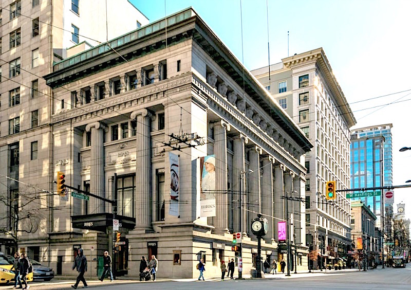 (impressive downtown vancouver birks flagship. Photo:  Vancouver Heritage Foundation )