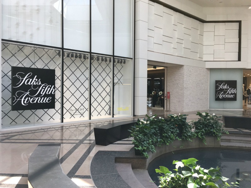 (Saks fifth Avenue operates a beautiful 143,200 square foot store at CF Sherway gardens, which opened in february of 2016. It includes an 18,500 square foot food hall operated by pusateri's fine foods)