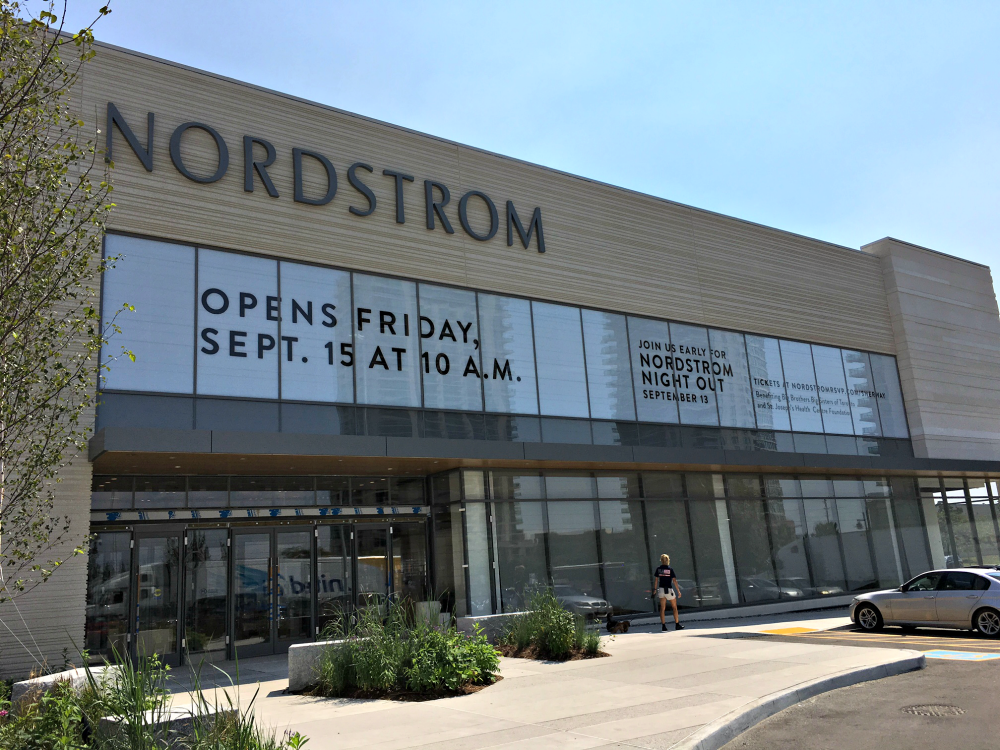(Nordstrom will open in less than a month, and it will be the third toronto location for the Seattle-based retailer)
