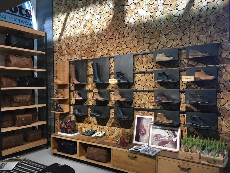 (Footwear wall)