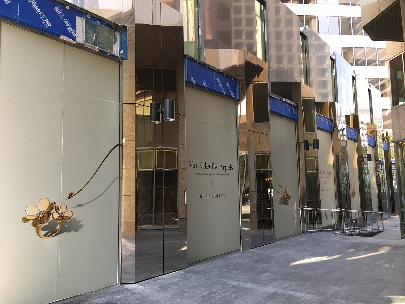 (Van Cleef & Arpels is building one of its largest stores in the world on Alberni Street. Photo: Lee Rivett)