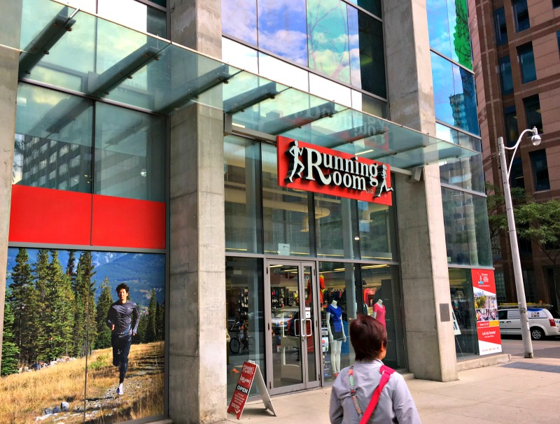 (The running room, bay street in Toronto. Photo: Craig Patterson)