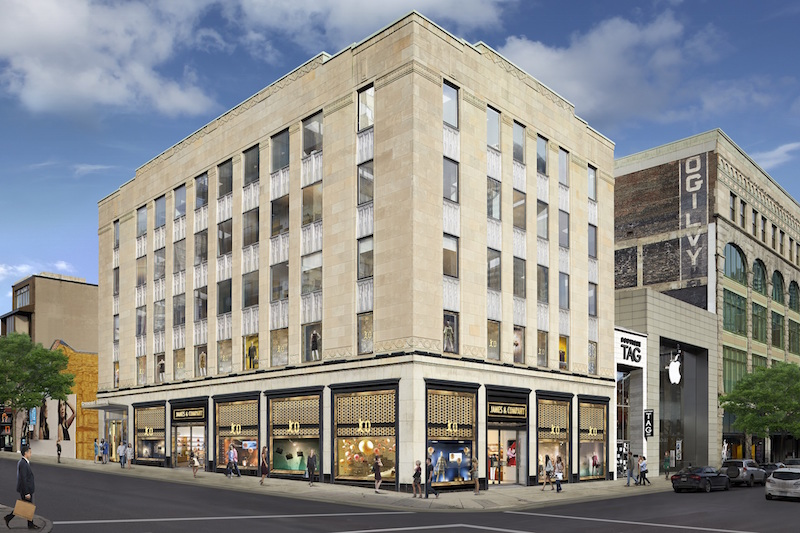 (Rendering of thor equities' 1327-1333 Sainte-Catherine Street property)