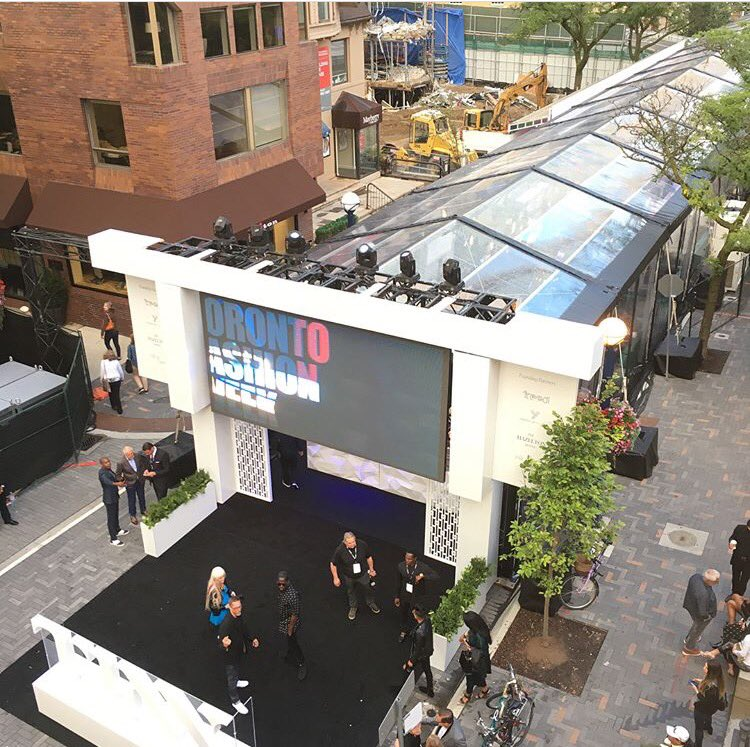 (Looking at the tFW tent from above. Photo: Bloor-Yorkville BIA)