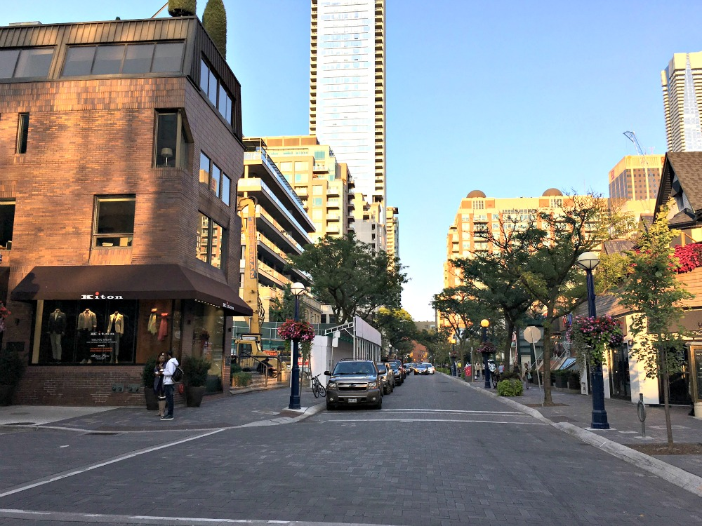 (Looking east along Yorkville Avenue from Hazelton Avenue on Sunday, September 10, 2017)