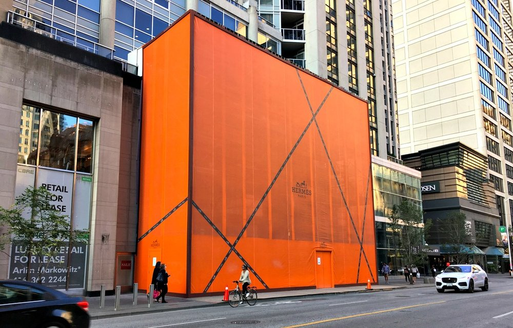 (Opening in November: massive Hermes flagship at 100 Bloor St. W.)