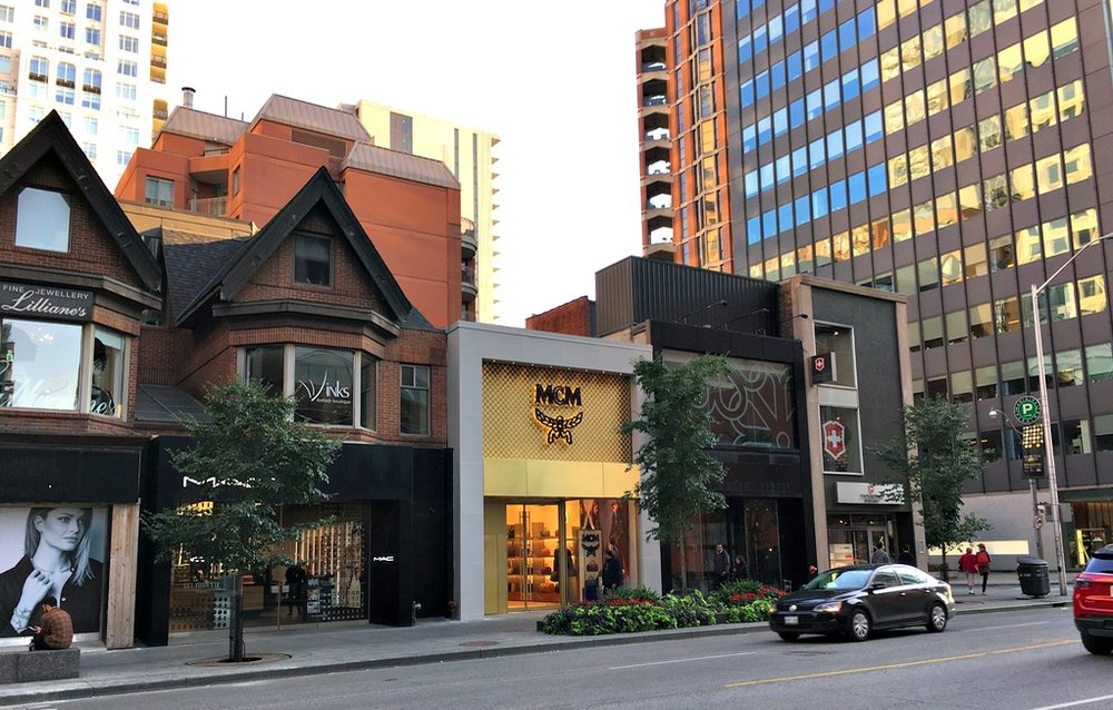(Canada's 1st MCM flagship is now open at 93 Bloor St. W. [article to follow] and in October, next to it, Strellson will open in the former Town shoes space)