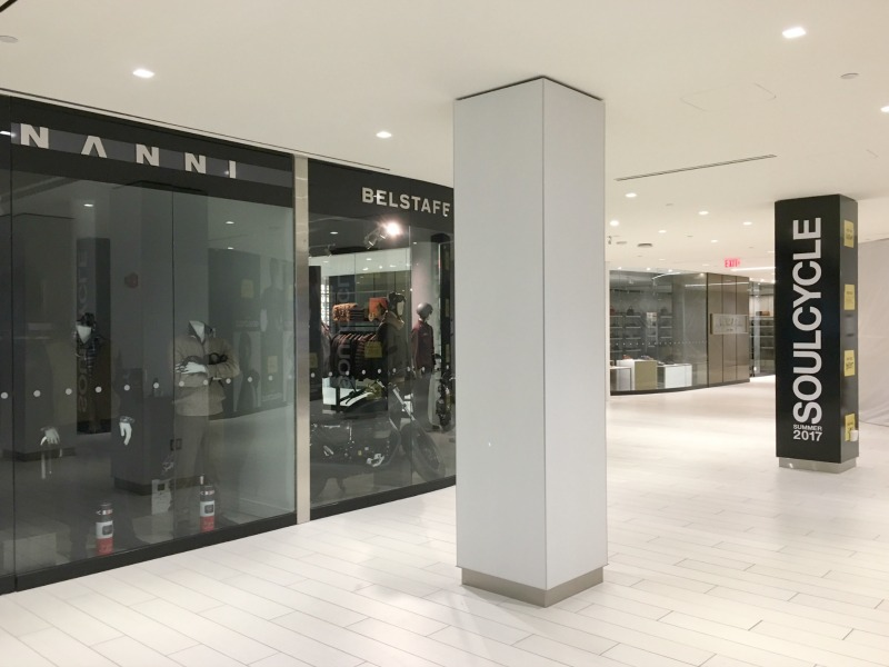 (Inside Yorkville village -- Nanni, belstaff, jp Fortin shoes and soulcycle. We'll be profiling these retailers in several separate articles