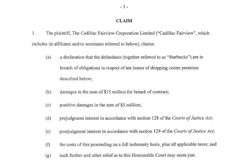 (Image from P. 3 of the filed Statement of Claim)
