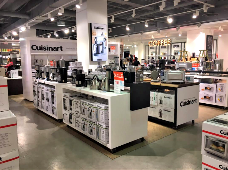 (Cuisinart's first hudson's bay shop-in-store)