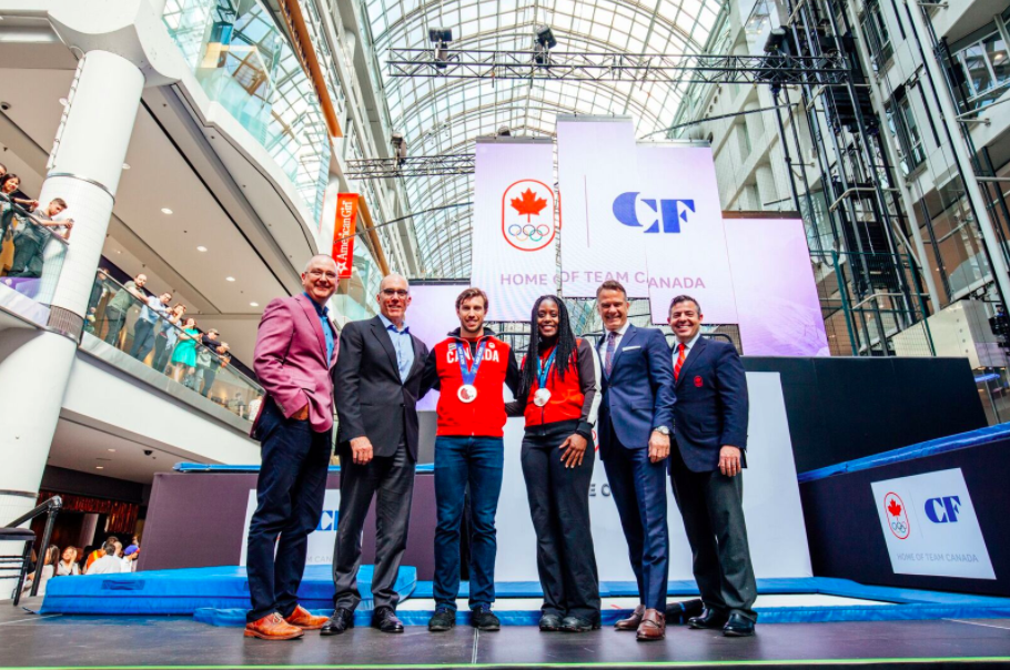 Cadillac Fairview Strikes Groundbreaking Partnership with Canadian Olympic Committee [Photos]