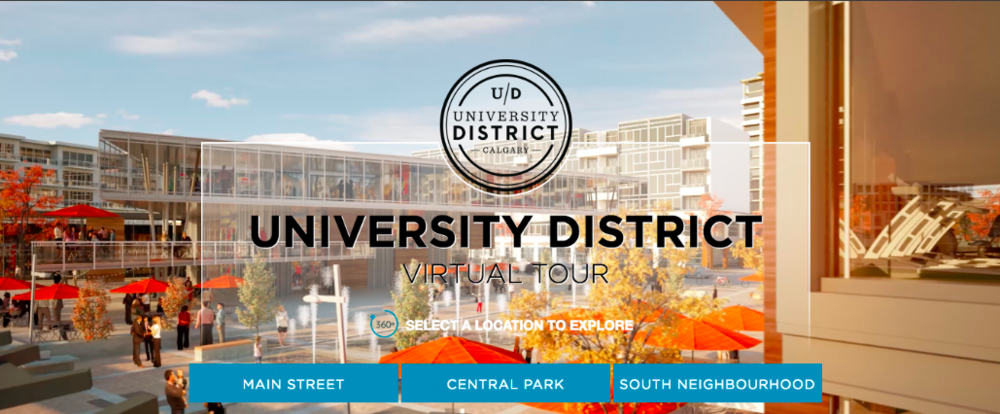 (Click image for virtual tours of calgary's new university district)