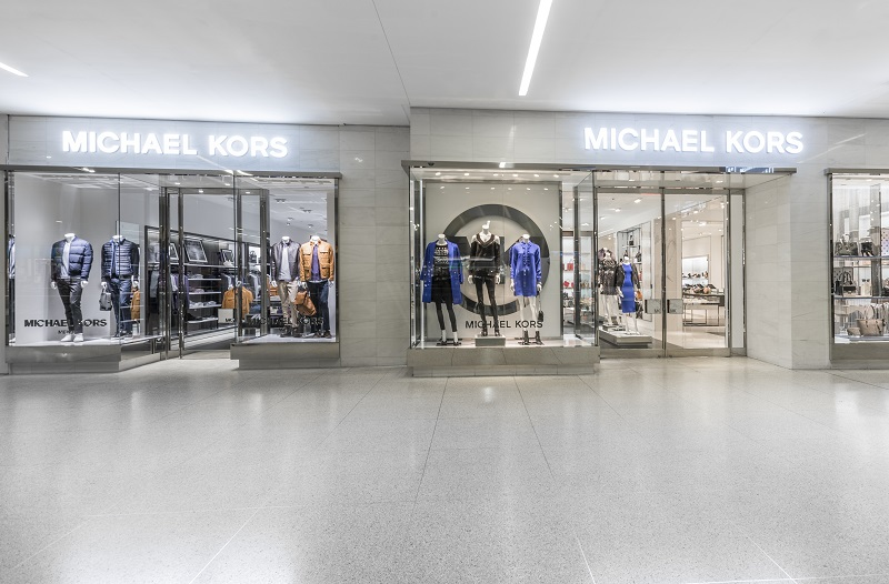 (Michael Kors men's store to the left, women's to the right)
