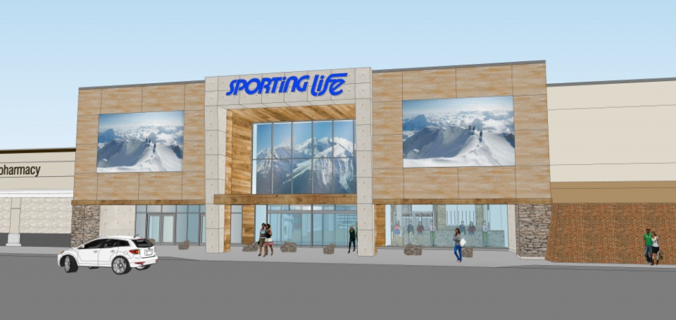 (Rendering of the new sporting life store that opened at CF Market Mall in Calgary last week)