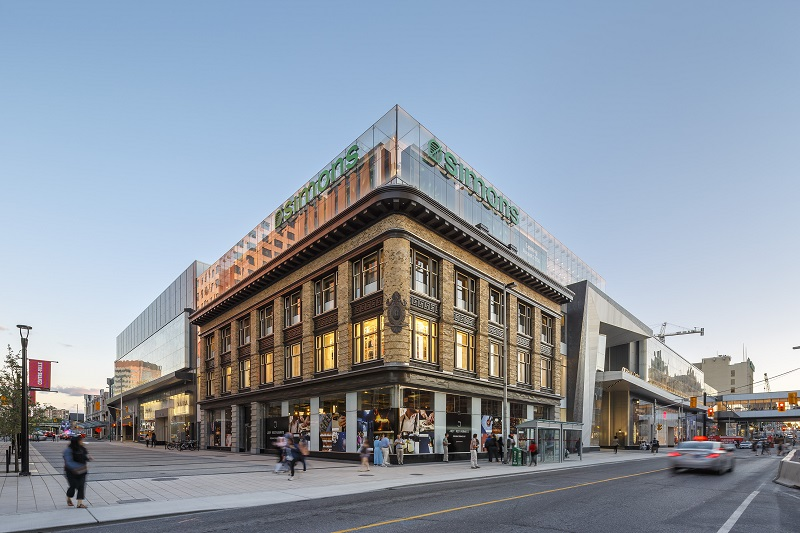 (Good Canadian examples: Above and below are photos of CF Rideau centre in Ottawa, via Cadillac fairview)