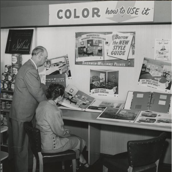 Sherwin-Williams showroom circa 1960 -Sherwin-Williams Instagram